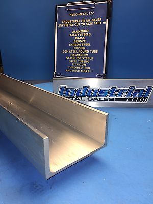 "6061 T6 Aluminum Channel 3"" x .130"" x 1-1/2"" x 24""Long"