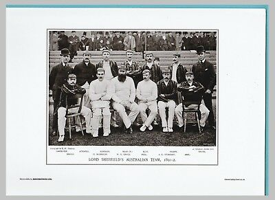Unmounted Cricket Team Print- Lord Sheffield's - 1891-2