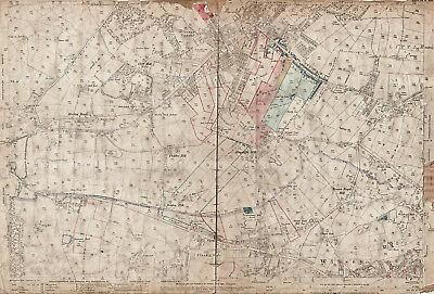 Sawood Yorks old map repro 215-3-1919 S Leeming Oxenhope