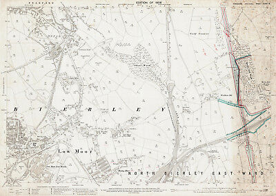 Odsal, Low Moor - Yorkshire old map repro 216-16-1908-a
