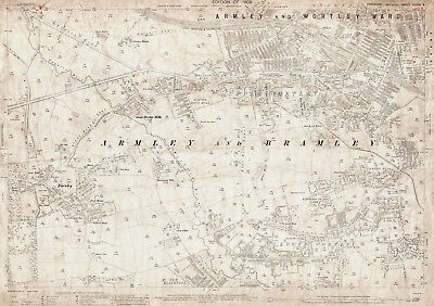 Farnley, Wortley - Old Yorkshire map 217-8-1908