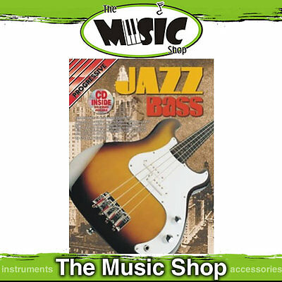 Progressive Jazz Bass Guitar Book with free CD New
