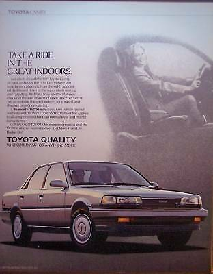 1989 TOYOTA CAMRY automobiles vintage CAR Ad
