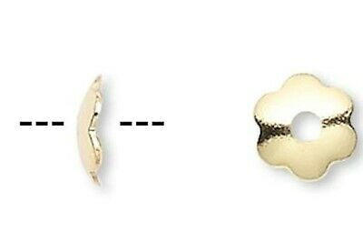 1000 Gold Plated Brass 4x1mm Scallop Bead Caps To Fit 4-6mm Beads