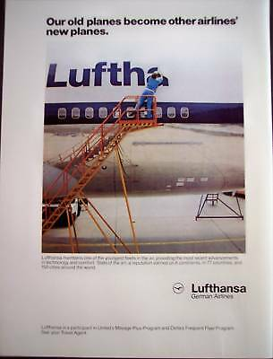 1986 Lufthansa German Airlines newest planes vintage ad