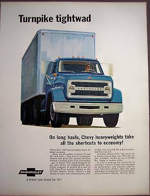 1967 Chevrolet Heavyweights commercial truck vintage ad