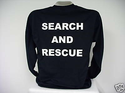 Search And Rescue L/S T-Shirt, SAR L/S T-Shirt,  bk  LG