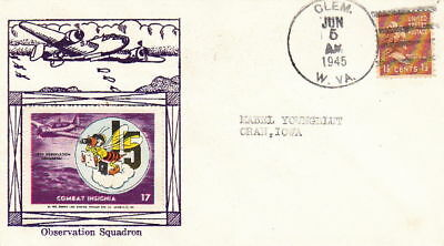 Ww2 Navy Observation Squadron 15 1945 Cachet Post Cover