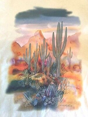 Desert Cactus HEAT PRESS TRANSFER for T Shirt Sweatshirt Tote Quilt Fabric  #777