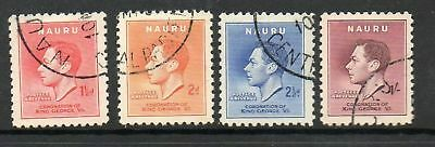 Nauru 1937 Coronation fine used set Stamps