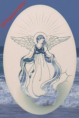 New Oval 8x12 ANGEL WINDOW CLING Etched Glass Look Decal Christian Door Decor
