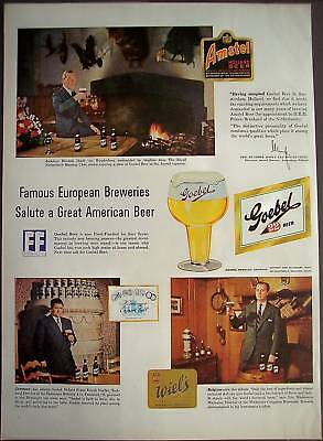 European Brewers like American Goebel Beer 1954 Ad