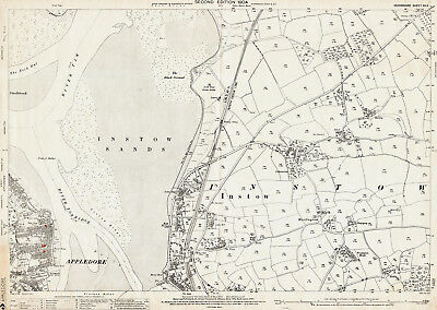 Appledore (northeast) - old Devon map 12-11-1904