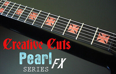 Iron Cross II RED PEARL DOTBUSTER Fret Markers Inlay Decal for BASS and GUITAR