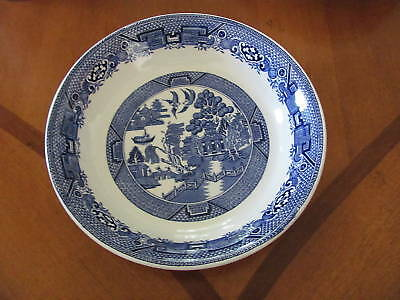 "Ridgway blue Willow soup bowl 7.5"" England vintage"