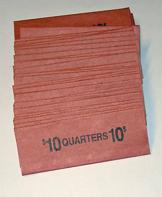 100 Quarter Coin Old Style Flat Wrappers
