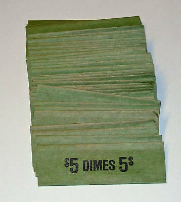50 Dimes Coin Old Style Flat Wrappers