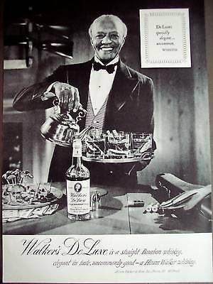 1950 Walker's Deluxe Bourbon Whiskey vintage photo ad