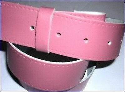 Pink Real Leather Belt Press Stud Fitting For Buckles hand made UK xxl large