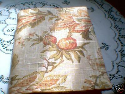 Fabric book cover 6 1/2 x 9 1/2 Bible  Linen floral