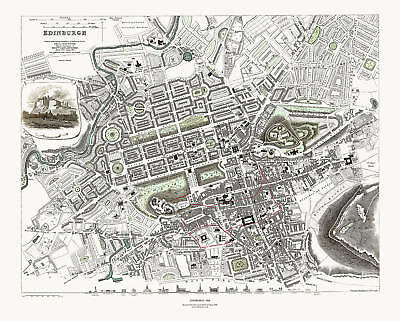 Edinburgh, Scotland in 1834 SDUK town plan