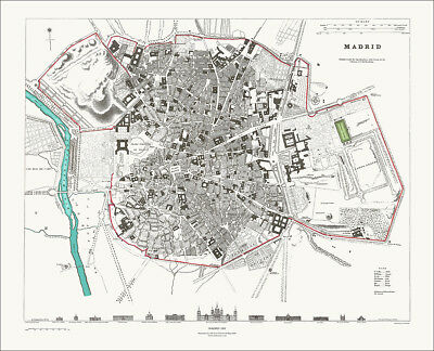 Madrid, Spain in 1831 SDUK town plan