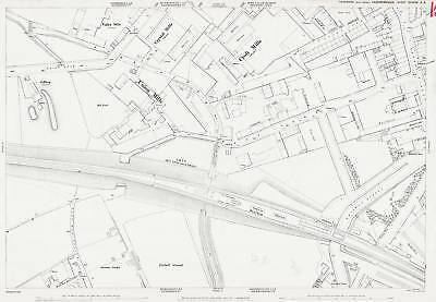 Heckmondwike Railway Station 1890 Heckmondwike old map repro 232-14-8