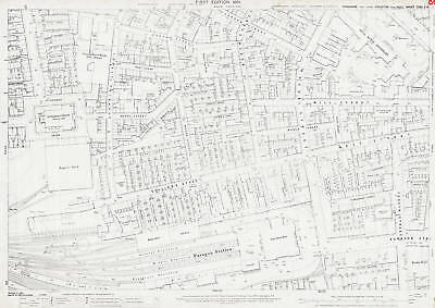 Paragon Railway Station area 1891 Hull old map repro 240-2-15