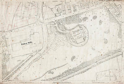 Railway Station area 1891 Keighley map 185-16-23
