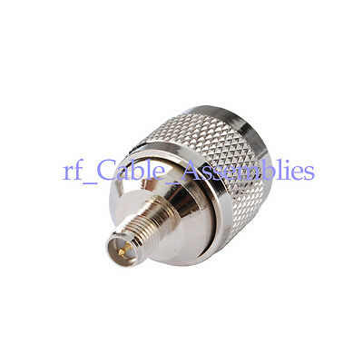 RF SMA-N adapter RP-SMA Jack female (male pin) to N Plug male straight connector