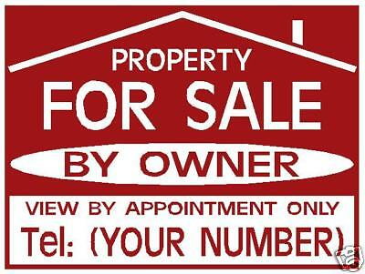 FOR SALE / TO LET sign boards x2 Personalised +FREE P&P