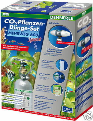 Dennerle Co2-Mehrweg Set Space 600 Special Edition m. 2kg Flasche, pH Controller