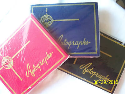 """Blank Autograph Book W 56 Colored Pages 6""""x 4.75"""""""