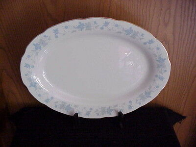 Large Oval Serving Platter Made In China Floral Rim