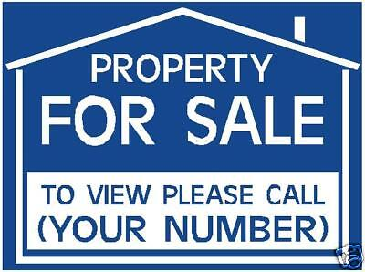 TO LET / FOR SALE sign boards x2 Personalised +FREE P&P