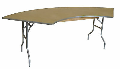 1 Serpentine Semi Circle Wood Table Banquet Trade Show Wedding Display Catering