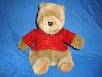 "Gund Classic Pooh Bear Red Sweater 9"" Plush"