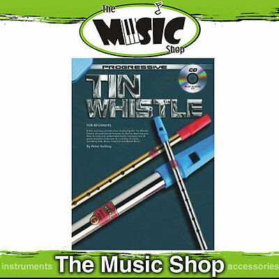 Progressive Tin Whistle Book with CD Learn to Play New!
