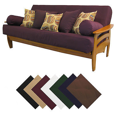 Solid Upholstery Grade Futon Cover Choose Size & Color!