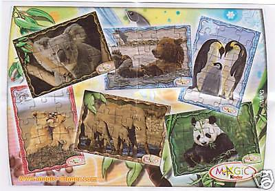 ANIMALI @@ NV @@  WWF PUZZLE COMPLETO +  CARTINE  kinder 2009