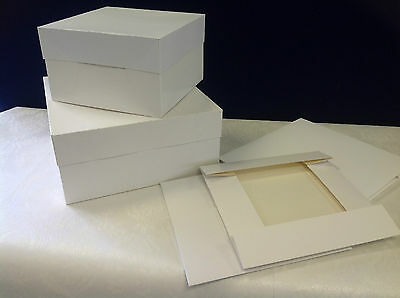 "5 x 15"" square standard 2 piece white cake boxes"