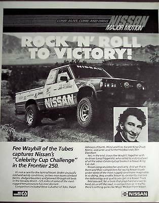 Fee Waybill NISSAN'S Celebrity Cup Challenge 1985 Ad