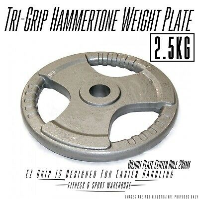NEW Pair of 2.5KG Standard Hammertone TriGrip Weight Plate Fitness Weightlifting