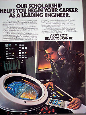 Army ROTC engineering scholarship 1984 recruitment ad