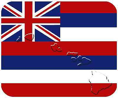 Mouse Pad State Flag Thick Mousepad - Hawaii