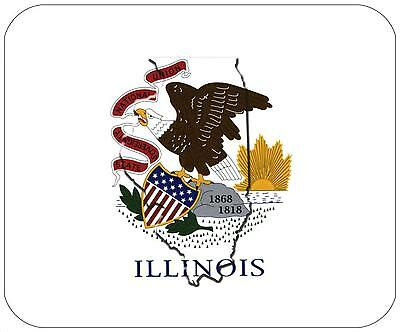 Mouse Pad State Flag Thick Mousepad - Illinois