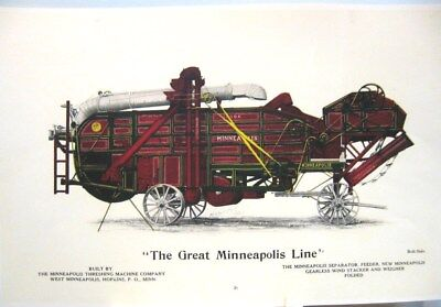 "1910 ""The Great Minneapolis Line""Separater, Feeder,Gearless Wind Stacker,Weigher"