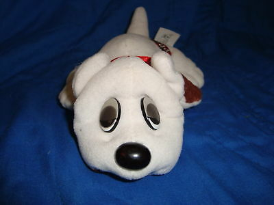 "Pound Puppies White w/ brown spots & droopy eyes 8""long"