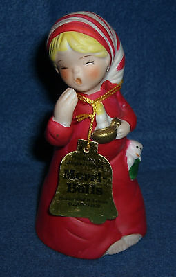 Vtg MERRI-BELLS Porcelain Figurine JASCO 1978 Naughty HOLIDAY Sleeping Cap