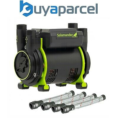 Salamander CT50 Xtra Extra 1.5 Bar Positive Twin Shower Pump + Hoses CT50XTRA